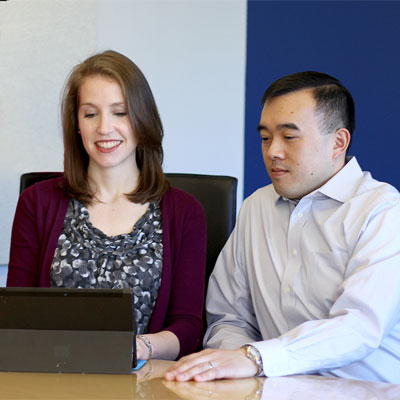 Join The Reis Group team of public relations and healthcare communications professionals. Apply  now. Pictured here: Tamara Moore, VP, and Hieu Nguyen, VP.